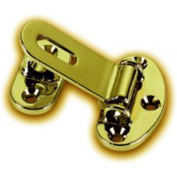 Brass Button Hasp small
